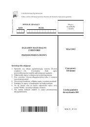 poziom podstawowy - Centralna Komisja Egzaminacyjna