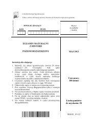 EGZAMIN MATURALNY Z HISTORII POZIOM ROZSZERZONY MAJ ...