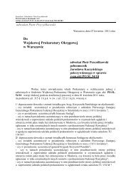 Do Wojskowej Prokuratury Okręgowej w Warszawie