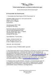 DE - TERMS & CONDITIONS ECHO 2013 - Thomas Sabo