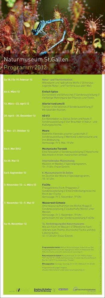 Naturmuseum St.Gallen Programm 2012 - René Güttinger