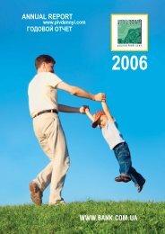 Annual Report 2006 - Pivdennyi Bank