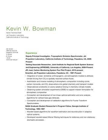 Kevin W. Bowman - Science - NASA