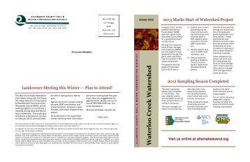 October 2012 Newsletter - Allamakee SWCD