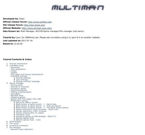 Multiman eboot fix