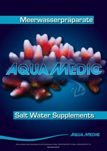 Meerwasserpräparate Salt Water Supplements - Aqua Medic