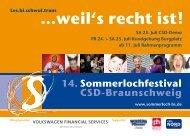weil's recht ist! - Sommerlochfestival | CSD-Braunschweig: 2010 ...