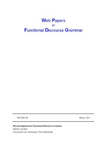 Phrasal alignment in Functional Discourse Grammar