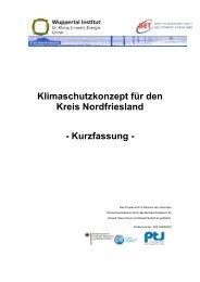 Klimaschutzkonzept für den Kreis Nordfriesland - Kurzfassung -