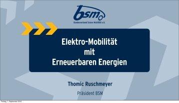 Bausteine & Baustellen der E-Mobilität - klimakreis
