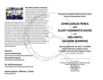 concert program - The Department of Music at Columbia University