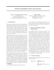 Robust Probabilistic Matrix Factorization - Learning Workshop