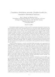 Cumulative distribution networks: Graphical models for cumulative ...