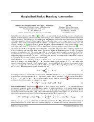 Marginalized Stacked Denoising Autoencoders