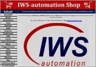 Shop betreten - IWS-automation GmbH