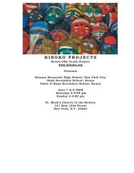 Brochure 2008:Layout 1.qxd - Kiboko Projects