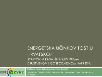 Energetska učinkovitost u Hrvatskoj Strateškim ... - Supeus