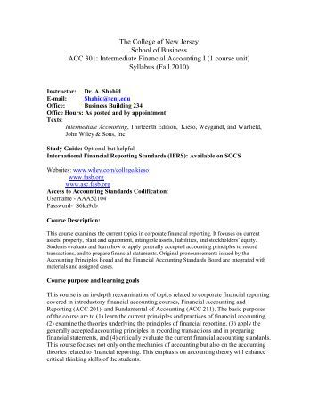 intermediate accounting 301 Here is the best resource for homework help with acct 301 : intermediate accounting i at liberty university online, lynchburg find acct301 study guides.