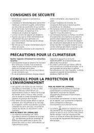 consignes de sécurité précautions pour le climatiseur conseils pour ...