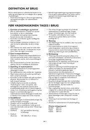 DEFINITION AF BRUG FØR VASKEMASKINEN TAGES I BRUG