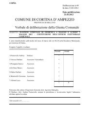delibera di giunta comunale n. 49 del 13.03.2012 - My Portal