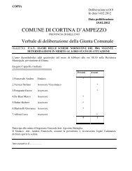 delibera di giunta comunale n. 19 del 14.02.2012 - Regione Veneto