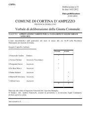 delibera di giunta comunale n. 53 del 14.03.2012