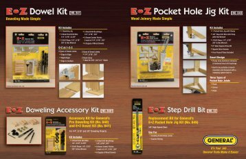 Woodworking Brochure.indd - General Tools And Instruments
