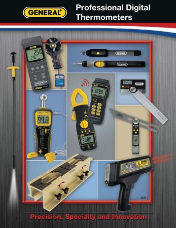 Professional Digital Thermometers - General Tools And Instruments