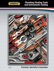 Plumbing/Heating Tools and Instruments Catalog - General Tools ...