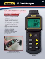 Data Sheet - General Tools And Instruments