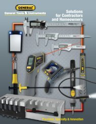 Solutions for Contractors and Homeowners - General Tools And ...