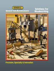 Solutions For Woodworking - General Tools And Instruments