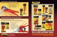 Plumbing Cutting Tools - General Tools And Instruments