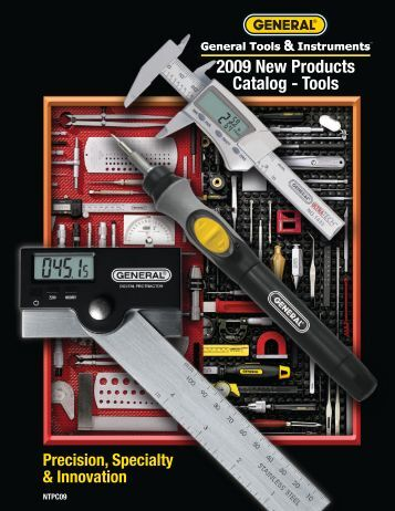 2009 New Products Catalog - Tools - General Tools And Instruments