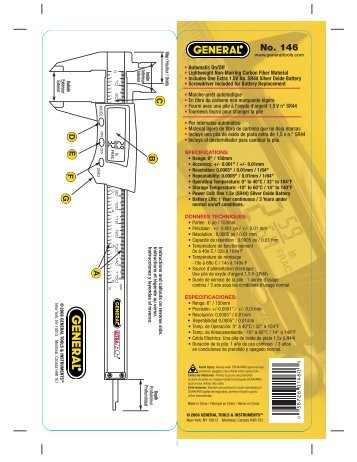 No. 146 - General Tools And Instruments