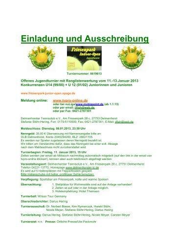 Ausschreibung 2013 Friesenpark Indoor Open.pdf - TVPro-online