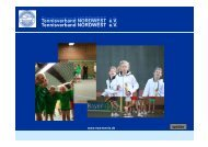 Tennisverband NORDWEST eV Tennisverband NORDWEST eV ...