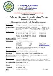 11. Offenes Lingener Jugend-Hallen-Turnier - Tennisverband ...