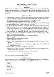 Regionalliga-Statut