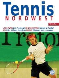Tennis NORDWEST 1/2013 - Tennisverband NORDWEST eV