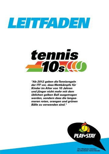 Leitfaden Tennis 10s - Play and Stay