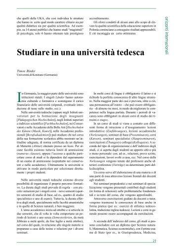 Studiare in una università tedesca - Università degli Studi di Catania