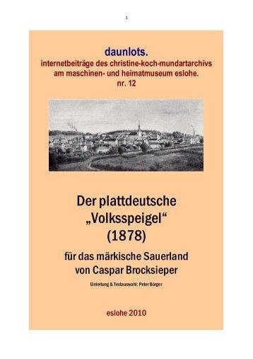 Text - Sauerlandmundart