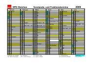 Jahreskalender 2009 - SPD Ortsverein Gleichen