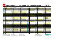 Jahreskalender 2011 - SPD Ortsverein Gleichen