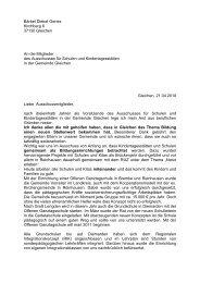 Rücktritt - Schreiben an Ausschuss - SPD Ortsverein Gleichen