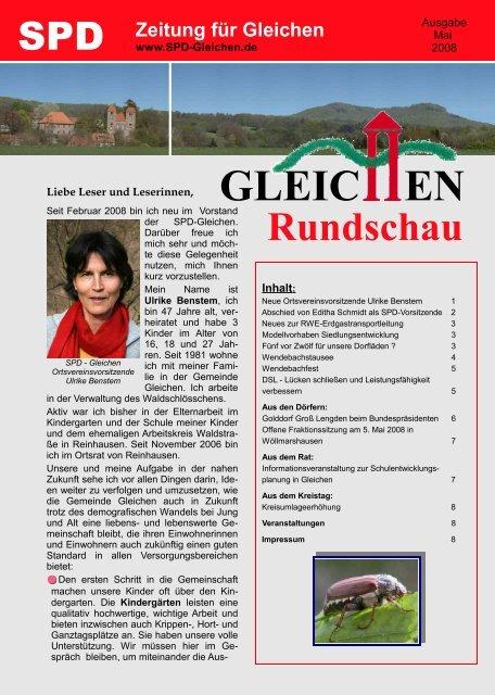 Gleichen Rundschau 05.2008 - SPD Ortsverein Gleichen