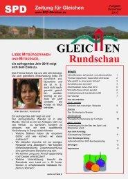 Gleichen Rundschau 12.2010 - SPD Ortsverein Gleichen