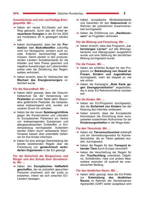 Gleichen Rundschau 05.2009 - SPD Ortsverein Gleichen